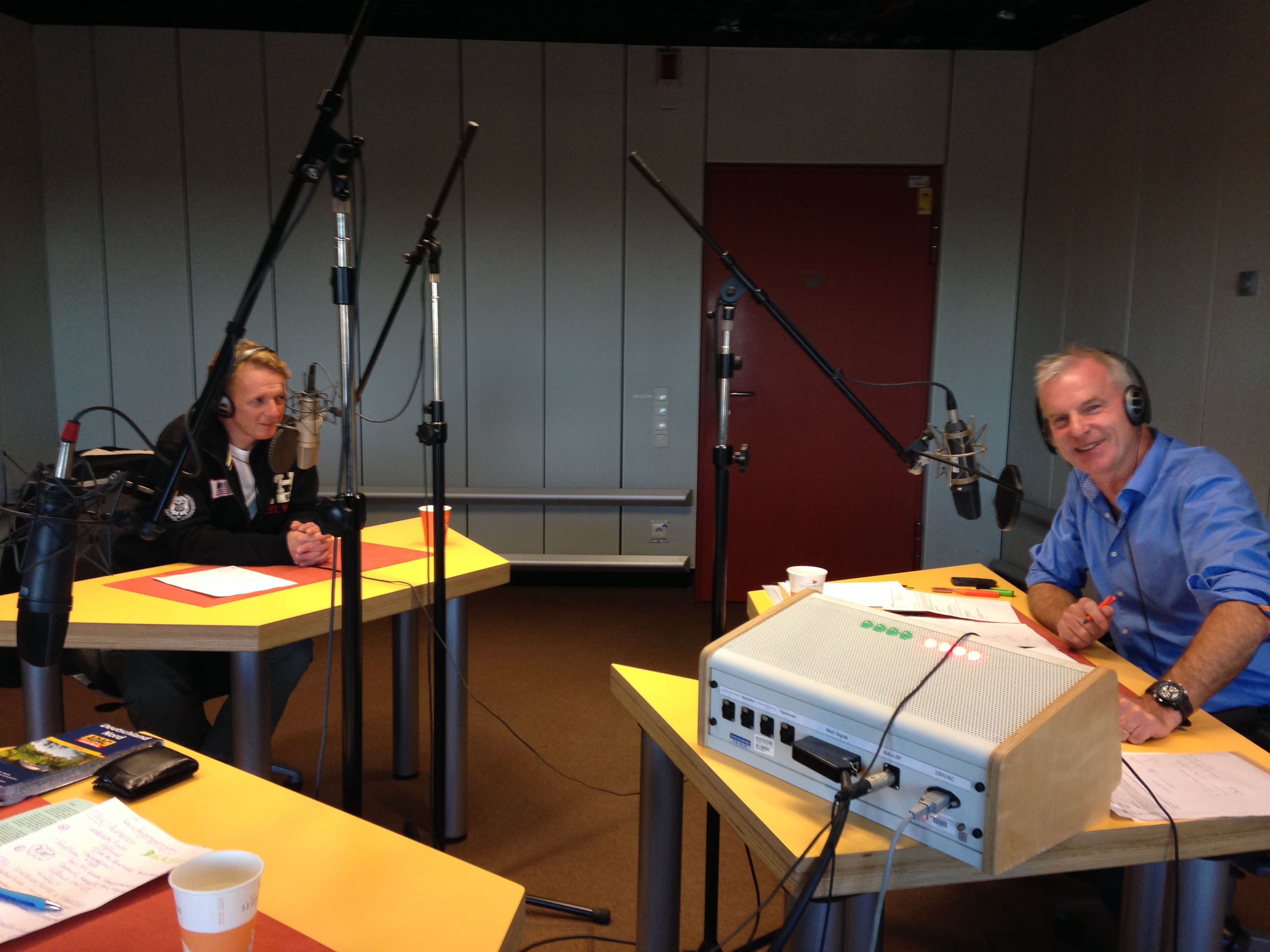 Dirk und Moderator Andreas Stopp