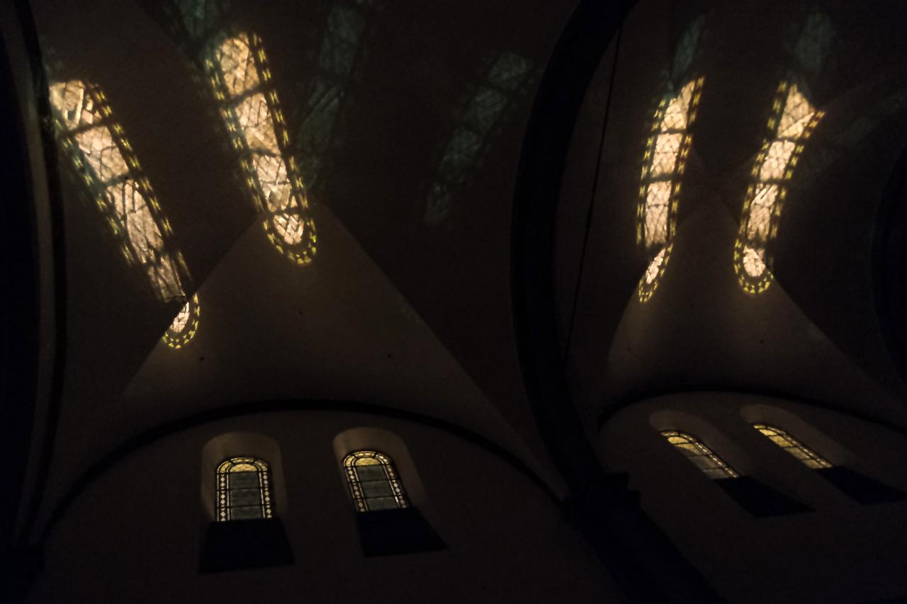 Basilika in Knechsteden bei Nacht