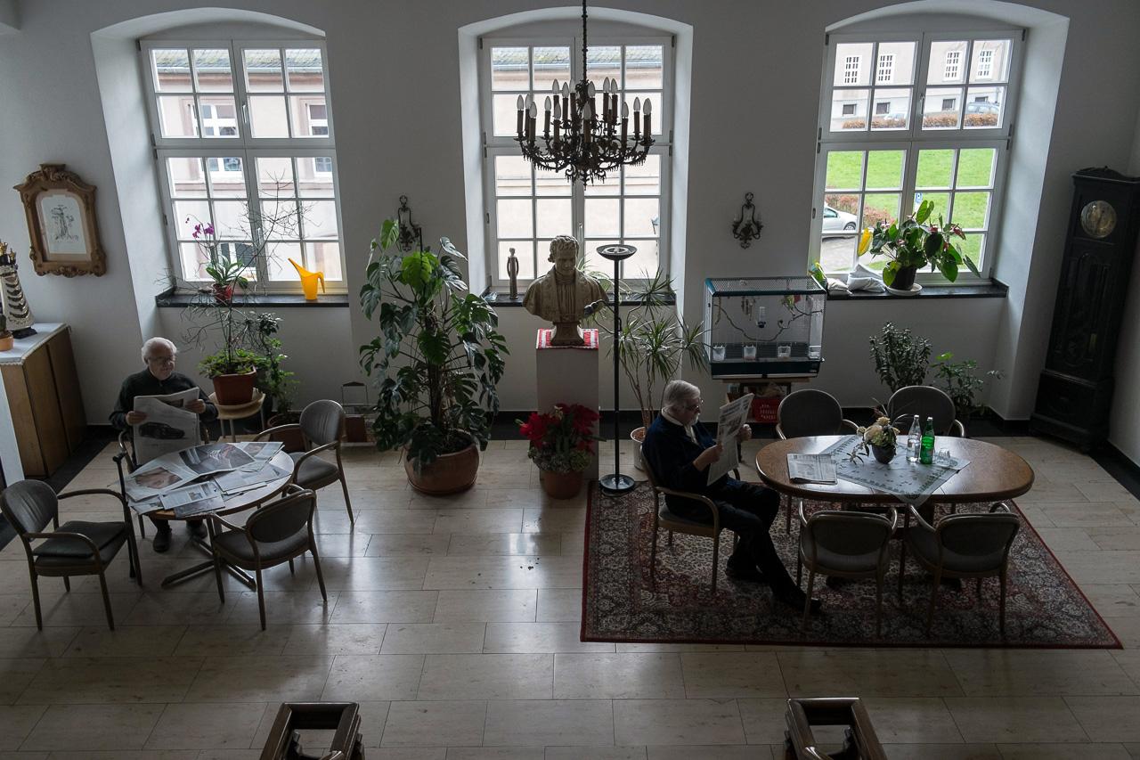 Knechtsteden Aufenthaltsraum im Treppenhaus
